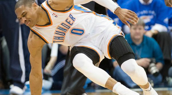 Westbrook no chão